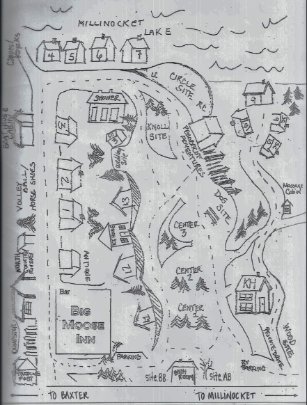 Lower Campground Map with Cabins and Inn