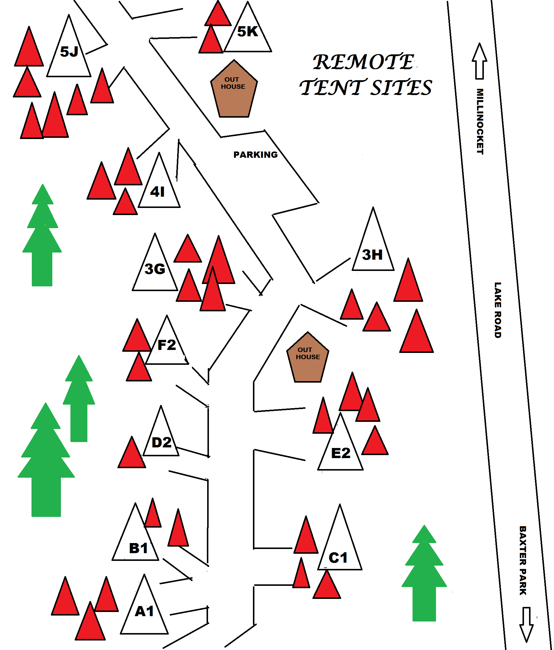 Remote Camping Map