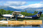 Scenic plane rides viewing Katahdin north Maine woods