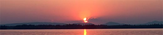 Sunrise Sunset Scenic Boat Cruises Millinocket-Ambejejus Lakes